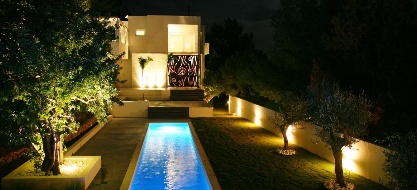 Ignialight piscina privada - Iluminacion led malaga ...
